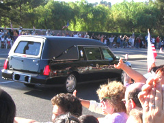 Photo of Ronald Reagan funeral procession